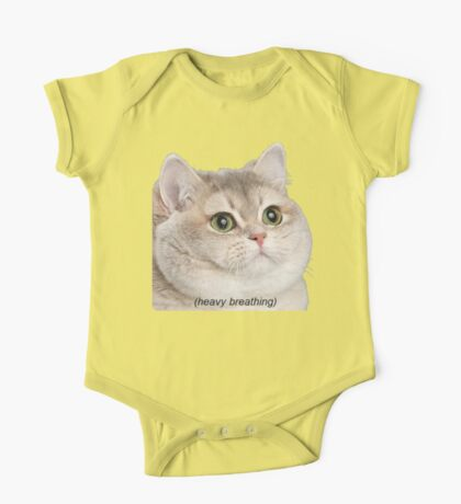 Heavy Breathing Cat- Improved One Piece - Short Sleeve