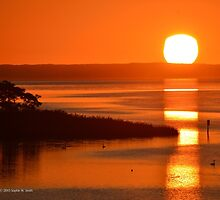 Peconic River Sunrise | Riverhead, New York  by © Sophie W. Smith
