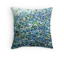 Sunset on A Rocky Beach Throw Pillow