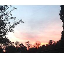 Blue and Orange Sunset Photographic Print
