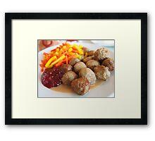 Ikea meatballs Framed Print