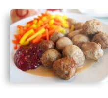 Ikea meatballs Metal Print