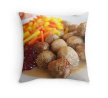 Ikea meatballs Throw Pillow