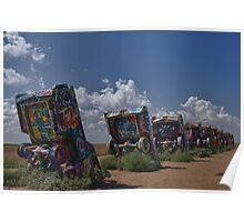 Cadillac Ranch, Amarillo, Texas Poster