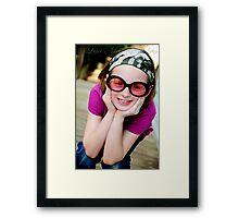 Goofy Girl Framed Print