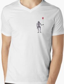Cylon Centurion with Red Balloon Mens V-Neck T-Shirt