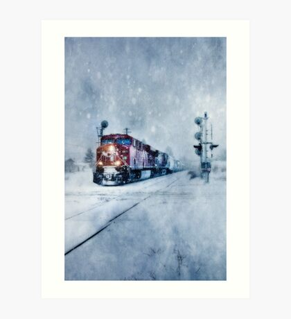 COLD NIGHTS ON THE MIDNIGHT TRAIN Art Print