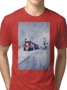 COLD NIGHTS ON THE MIDNIGHT TRAIN Tri-blend T-Shirt