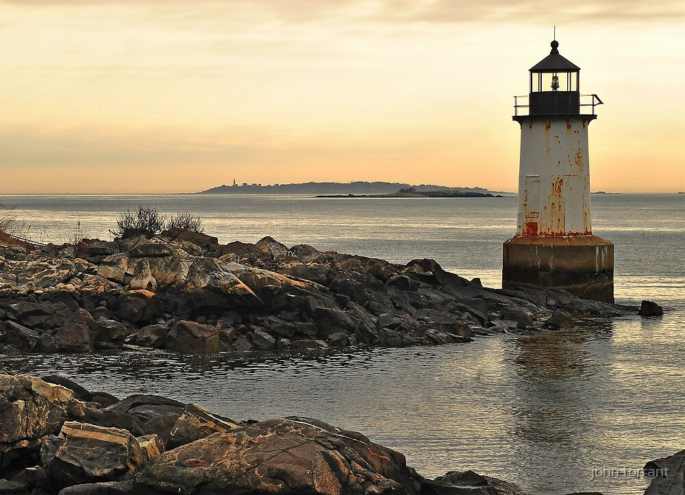 Old lighthouse at Winter Island.  Salem Mass.  USA by john forrant