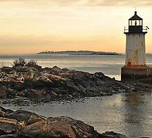 Old lighthouse at Winter Island.  Salem Mass.  USA by john forrant