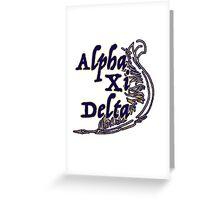 Alpha Xi Greeting Card