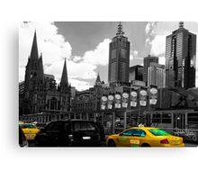 Melbourne Cab Canvas Print