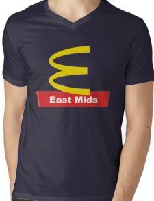 East Mids McDonalds Mens V-Neck T-Shirt