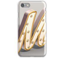 3D Model Shiny M iPhone Case/Skin