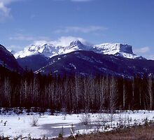Jasper National Park Early Spring 1979 by Allen Lucas