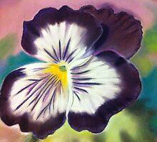 Purple pansy by ArtbyInese2015