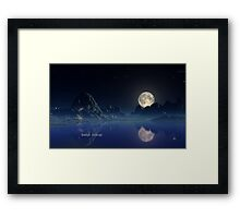 Moonlight - Earthscape Framed Print