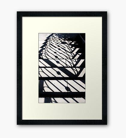 Shadowy Stairway Framed Print