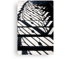 Shadowy Stairway Canvas Print
