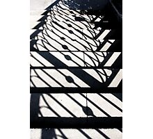 Shadowy Stairway Photographic Print