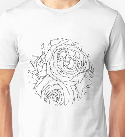 Embroidered roses Unisex T-Shirt