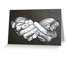 Offering Hands Greeting Card