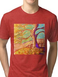 The 3 Pumpkins of Fall  Tri-blend T-Shirt