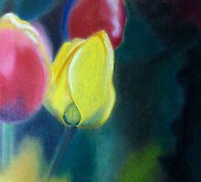 Misty Tulips 1 by ArtbyInese2015