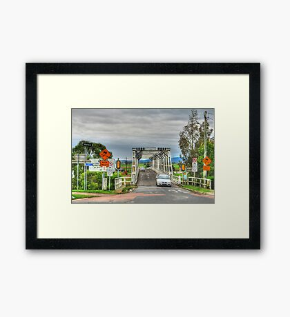 Confusing Road Signs, Morpeth, NSW Framed Print