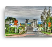 Confusing Road Signs, Morpeth, NSW Canvas Print