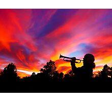 Trumpet Sunset Photographic Print