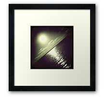 hipsta Gradient Series- Sunset ripple effects No.3 Framed Print