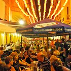 STREET CAFE AT NIGHT SPAIN by kfbphoto