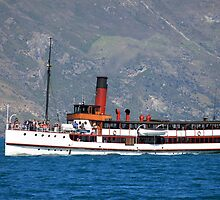 TSS Earnslaw, Queenstown Bay New Zealand by RossHeywood
