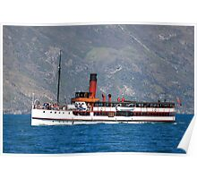 TSS Earnslaw, Queenstown Bay New Zealand Poster
