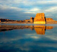 Lone Rock Glow by DawsonImages