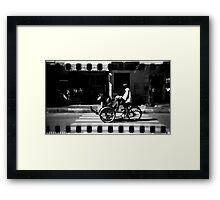 cyclo, phnom penh, cambodia Framed Print
