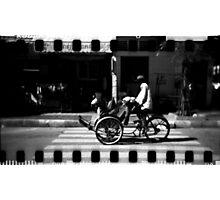 cyclo, phnom penh, cambodia Photographic Print