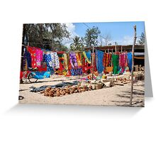 A TYPICAL AFRICAN STREET MARKET - MOZAMBIQUE Greeting Card