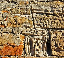 Worn sand stone in an old light house by Ian Fegent