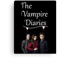 TVD - The Vampire Diaries - Elena, Damon and Stefan - (Designs4You) Canvas Print
