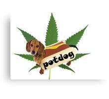 Potdog Canvas Print
