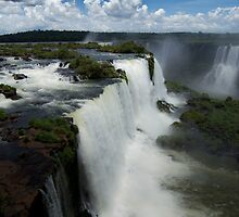 Iguazu Falls, Brazilian side by Coreena Vieth