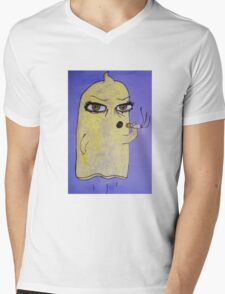 Condom Man Mens V-Neck T-Shirt