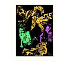 Johnny Winter slide guitar blues Art Print