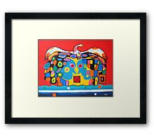 Conflict Resolution. Framed Print