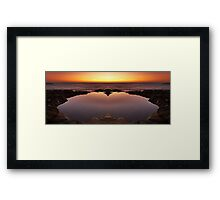 Ocean Heart Framed Print
