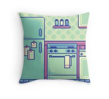 Pixel Kitchen Throw Pillow