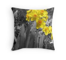 Daffodils @ Dad's  Throw Pillow