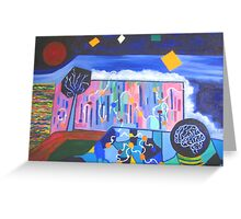Blue Sky Thinking. Greeting Card